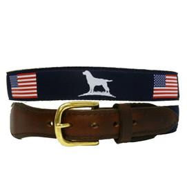 Over Under American Flag Ribbon Belt