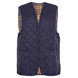 Barbour Quilted Waistcoat/ Zip In Liner - Navy