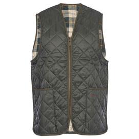 Barbour Quilted Waistcoat/ Zip In Liner - Sage