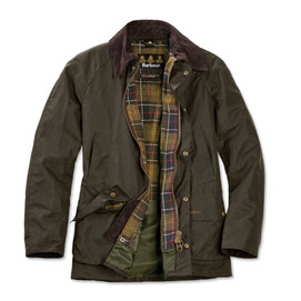Barbour Ashby Waxed Cotton Jacket - Classic Olive