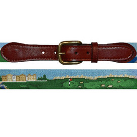Smathers & Branson Old Course Needlepoint Belt