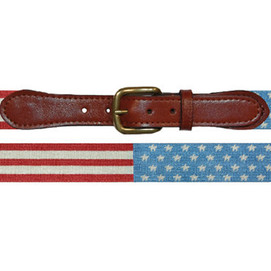 Smathers & Branson Stars & Stripes Needlepoint Belt