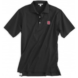 Peter Millar North Caroliona State Cotton Solid Polo - Black