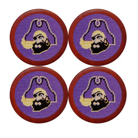 Smathers & Branson East Carolina University Needlepoint Coasters