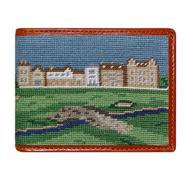 Smathers & Branson Old Course Needlepoint Wallet