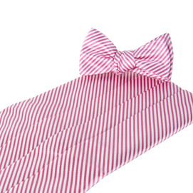 Collared Greens Signature Series Stripes Cummerbund Set - Pink
