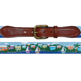 Smathers & Branson Island Time Needlepoint Belt