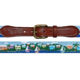 Smathers & Branson Island Time Needlepoint Belt