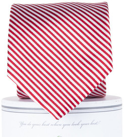 Collared Greens Signature Stripe Series Tie - Red