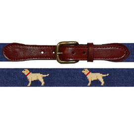 Smathers & Branson Yellow Lab Needlepoint Belt