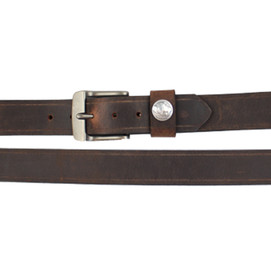 Over Under Bison Leather Belt