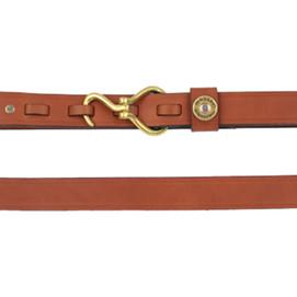 Over Under Hoof Pick Leather Belt - London Tan