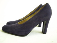 vintage bruno magli shoes - purple suede pumps