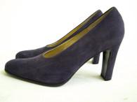 vintage bruno magli shoes - purple suede pumps