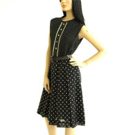 Vintage 1960s Polka Dot Mod Dress