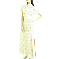 Vintage 1970s Cream Lace Column Dress