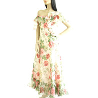 Vintage 1970s Floral Garden Maxi Dress