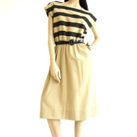Vintage 1970s Leslie Fay Stripe Dress