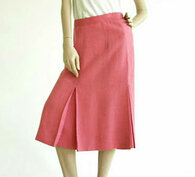 Vintage Honeysuckle Pink A Line Midi Skirt