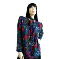 DESIGNER Vintage Ungaro Blouse 1980s Floral