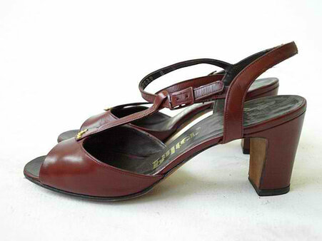 Vintage Palter 1970s Burgundy Brick Sandal