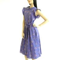 Vintage 1970s/1980s Diane Von Furstenberg Lavender Print Dress