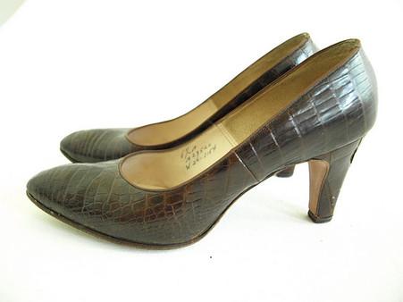 Vintage Shoes Andrew Geller Alligator Pump