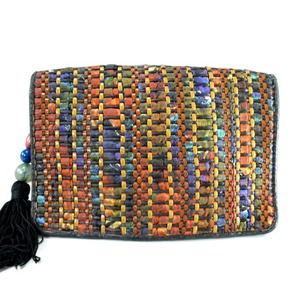 Sharif Braided Leather Purse