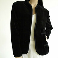 Vintage Butte Black Velvet Cardigan Blazer