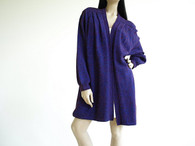 Vintage 1980s St. John  knits Purple Wrap Sweater