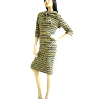 Vintage 1950s/1960s Henry Lee Yellow Boucle Wiggle Dress