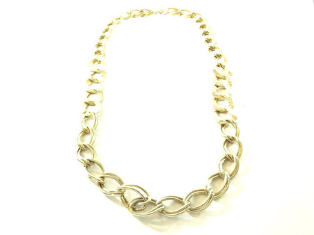 Vintage 1980s Chain Necklace - Gold Tone Rope Link at Borough Vintage.