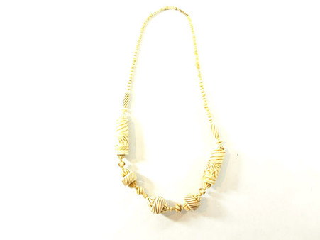 Vintage Cream Hand Carved Bone Necklace at Borough Vintage.