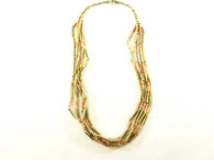 Vintage Beaded Necklace - 5 Strand Metallic Bronze Twist at Borough Vintage.