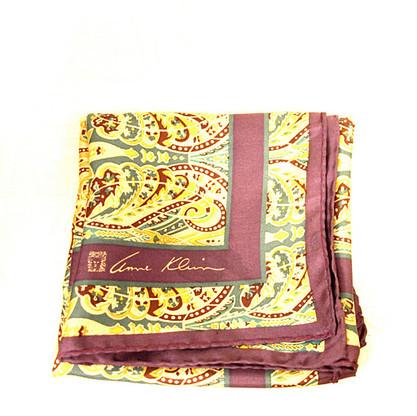 Vintage Designer Anne Klein Purple Paisley Print Scarf