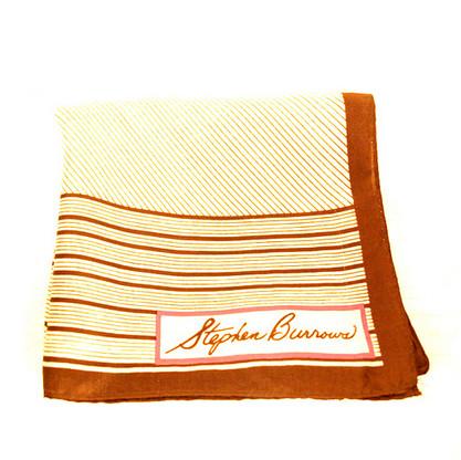 Vintage Designer Stephen Burrows Signed Silk Scarf