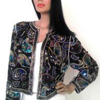 Vintage 1970's Beaded Blazer - Sequin Jacket