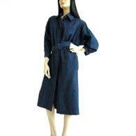 Vintage 1980s Rickie Freeman Denim Dress