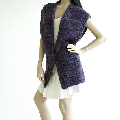 Vintage 1980's Christian Dior Purple Marl Slouchy Sweater