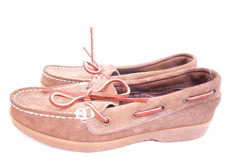 Vintage Foot Steps Tan Boat Shoe
