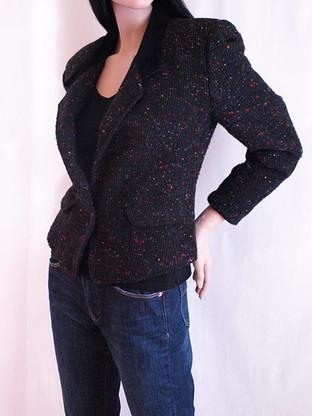 Vintage 1990's Multicolor Speckled Tweed Blazer