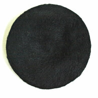Vintage 1950's Saks Fifth Black Wool Beret Hat