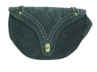 Vintage 1960's/1970's Navy Purse Suede Saddle Shoulder Bag