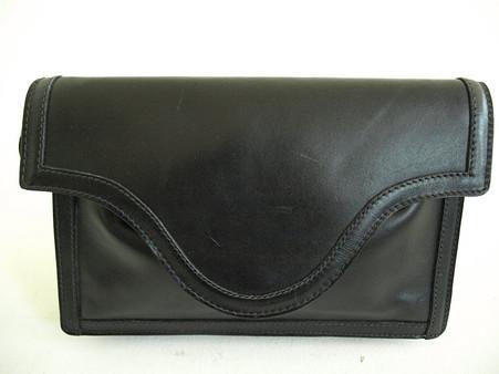 Vintage 1970's/1980's Anne Klein Black Logo Envelope Purse