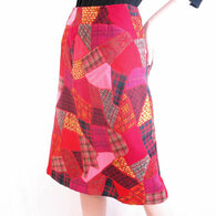 Vintage Patchwork Quilted Hand sewn Skirt