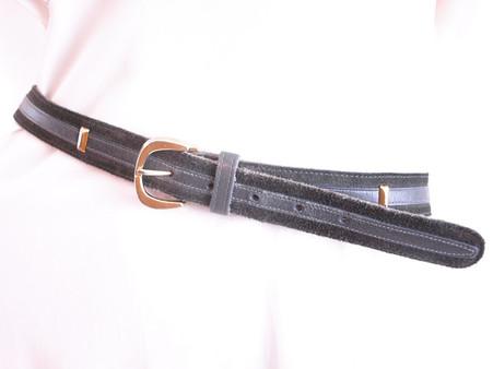 Vintage Anne Klein Gray Suede Belt