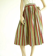 Vintage 1950's Woven Stripe Circle Skirt