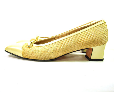 Vintage Salvatore Ferragamo Cap Toe Woven Loafer