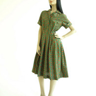 Vintage 1950's shirt dress at Borough Vintage