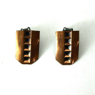 Modernist Copper Clip Earrings